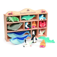 Ocean animals set and display case
